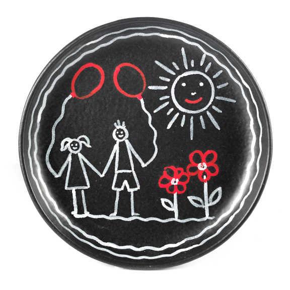 Modigliani - Gessetto Rosso piatto fusion cm18,5x2,5