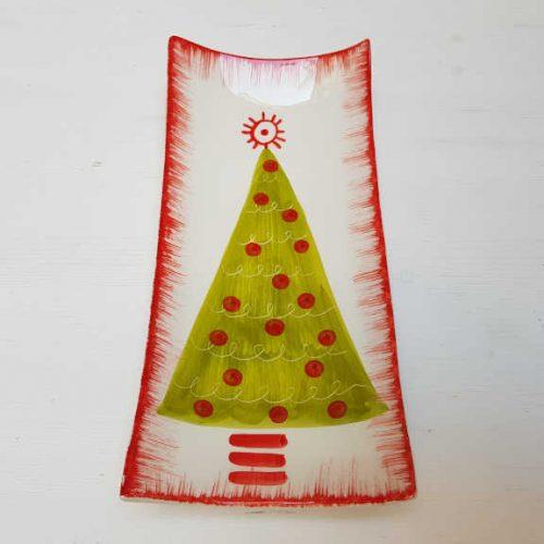 Il Nostro Natale Piatto Rettangolare decoro albero verde