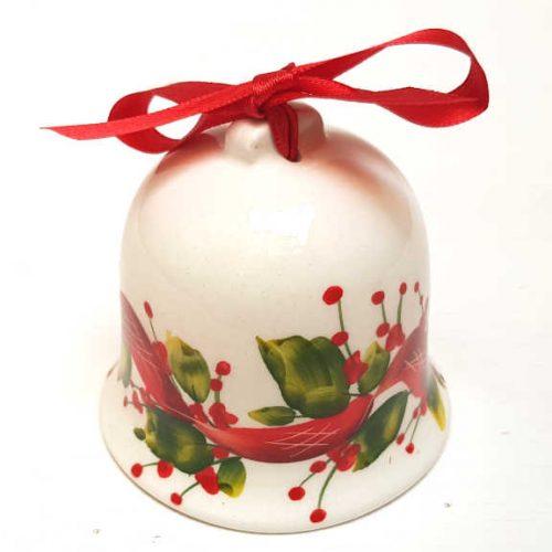 Il Nostro Natale Ornamento Campanella decoro Nastro e Vischio