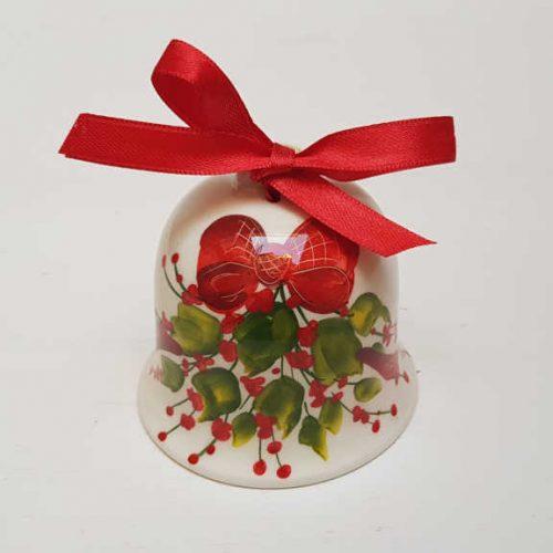 Il Nostro Natale Ornamento Campanella decoro Fiocco e Vischio