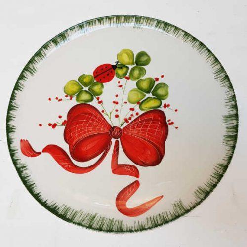 Modigliani il nostro Natale piatto tondo decoro ficco con coccinella
