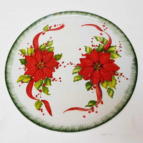 Modigliani il nostro Natale piatto tondo decoro stella di Natale