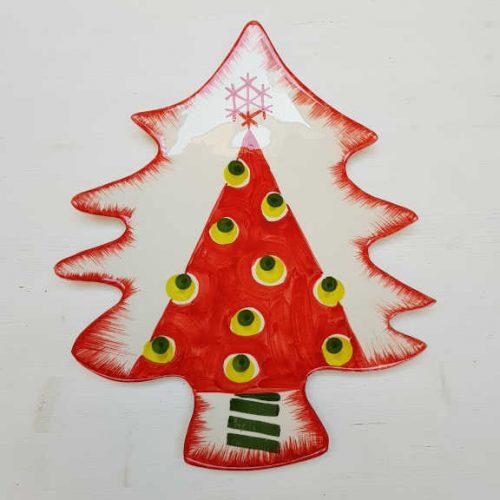 Modigliani il nostro Natale piatto albero decoro albero rosso