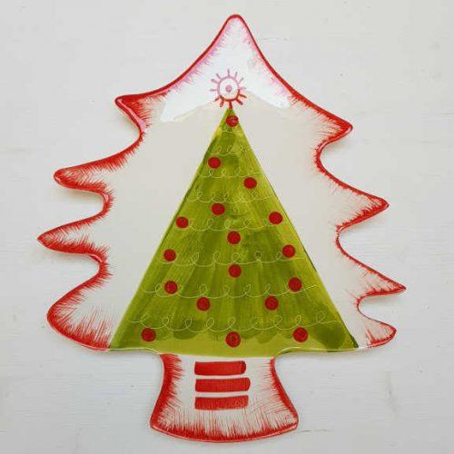 Modigliani il nostro Natale piatto albero decoro albero verde