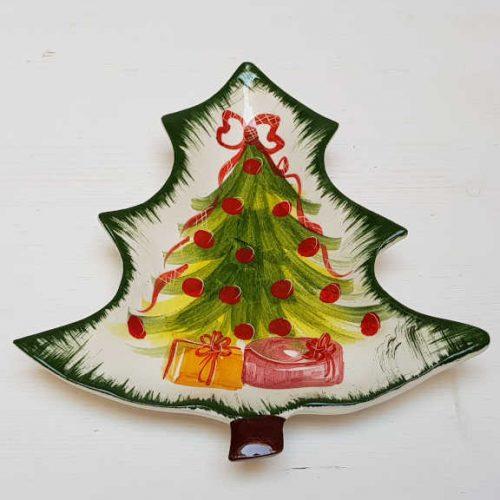 Modigliani il nostro Natale piattino albero decoro albero con pacchi