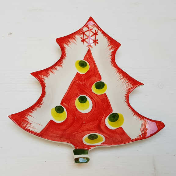 Modigliani Il nostro Natale piattino albero rosso