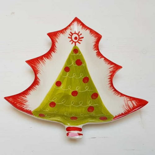Modigliani - il nostro Natale piattino albero verde