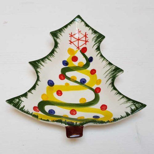 Modigliani il nostro Natale piattino albero decoro nastri