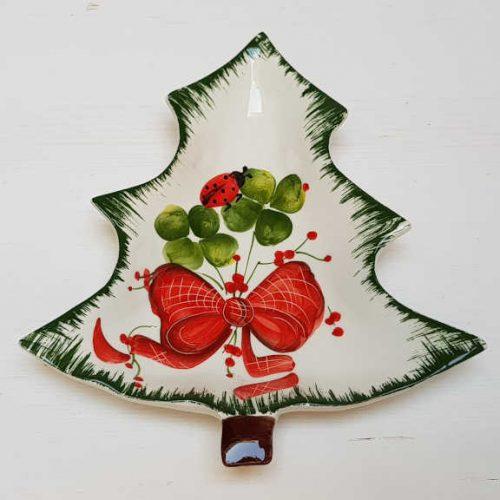 Modigliani il nostro Natale piattino albero coccinella