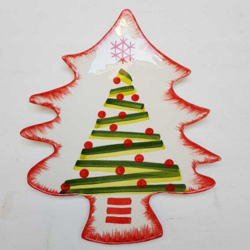 Modigliani il nostro Natale piatto albero decoro linee