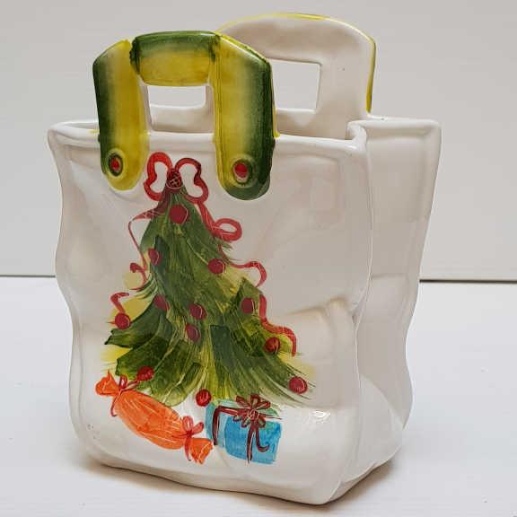 Il Nostro Natale Borsetta Media decoro albero con pacchi