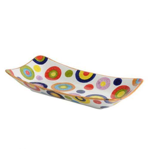 Modigliani - POP Cerchi Piatto rettangolare fondo cm 45x23