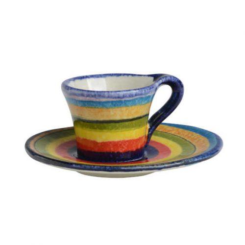 Modigliani - POP Righe tazza caffè con piatto