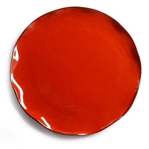 Modigliani - Baita piatto torta/sottopiatto rosso
