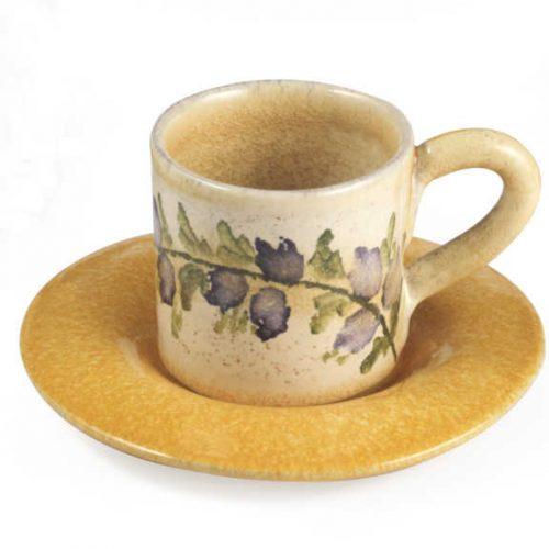 Terra Fiorita Tazza da caffè gialla