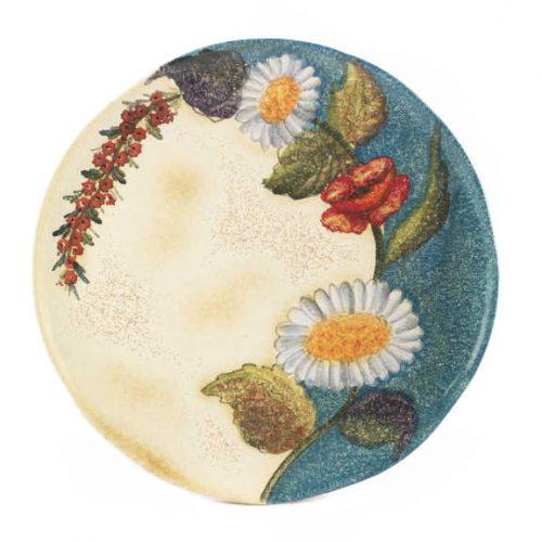 Terra Fiorita - Vassoio tondo cm 32