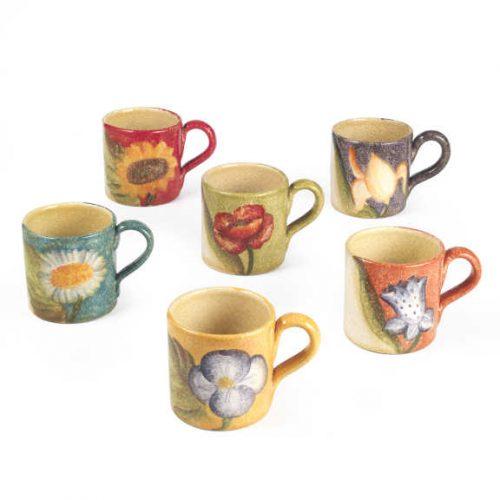 erra Fiorita - Set 6 Mug colori assortiti