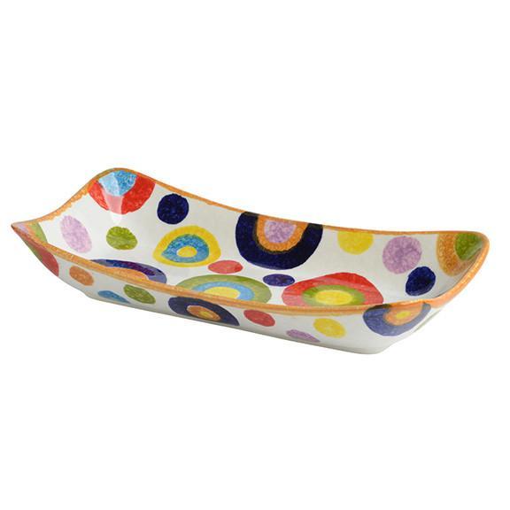 Modigliani - POP Cerchi Piatto rettangolare fondo cm 33x17