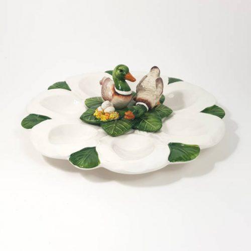 Pasqua piatto uova anatre tondo